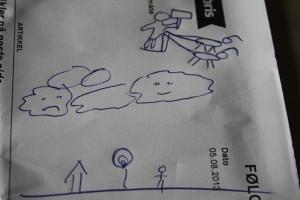 Kuva: Reeta / Les! Lue! - Alkuperäinen piirros: Nimettömänä pysyttelevä norjalainen isä