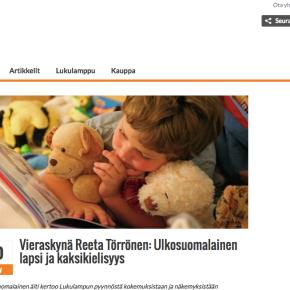 Ulkosuomalainen lapsi jakaksikielisyys