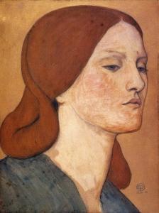 Dante Gabriel Rossetti: Elizabeth Siddal. Bilde: Wikimedia Commons